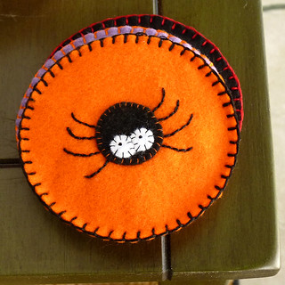 Felt Coasters - Spider | by River (Wing-It Vegan)