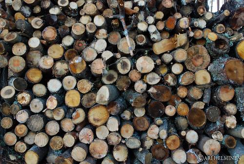 Firewood art !