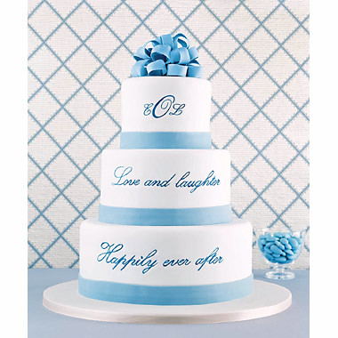 Blue N White Wedding Cakes