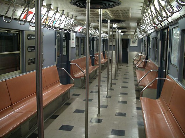 Vintage 1960's-era subway car