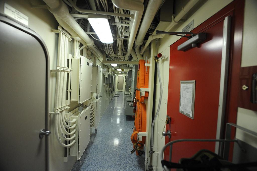Interior Passageway Uss New York On Board Navy Ships All