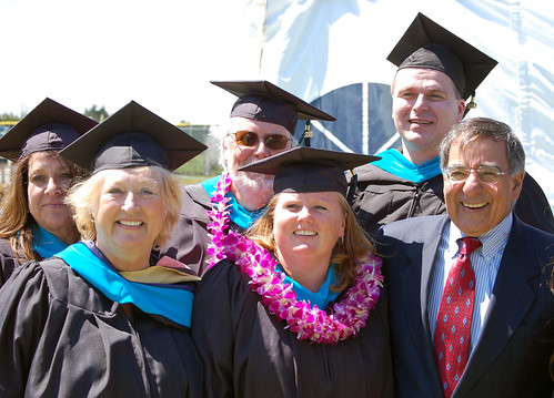 Leon Panetta with 2010 grads of MPP program at CSUMB | by Donald Porter