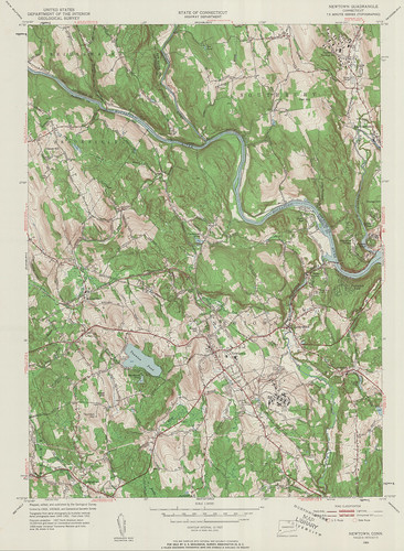 Newtown Quadrangle 1953 - USGS Topographic Map 1:24,000 | by uconnlibrariesmagic