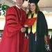 CSUCI President Richard R. Rush and graduating student