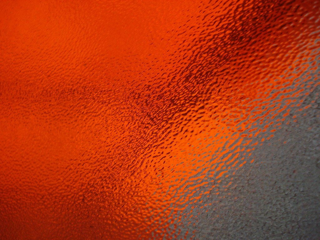 Orange Glass Effect This Is A Window I Knocked Out The