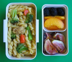 Leftover remake: chicken curry pasta lunch for preschooler | by Biggie*