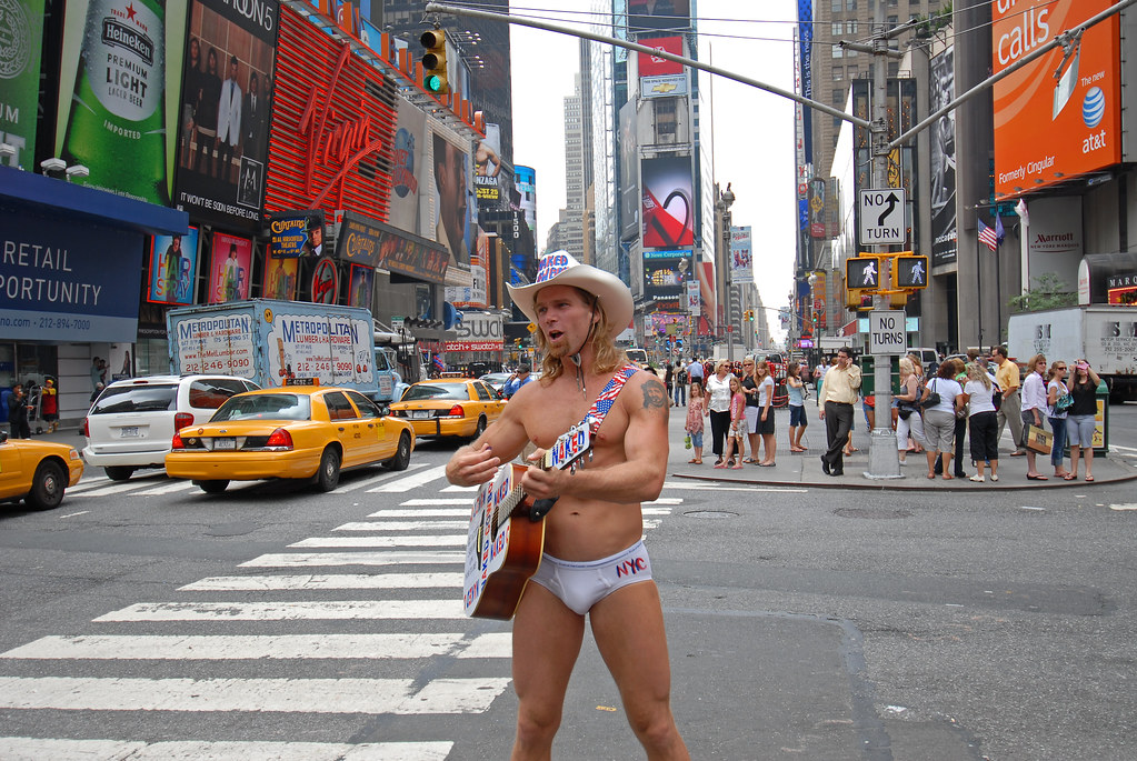 Naked Cowboy Times Square New York USA Editorial Stock