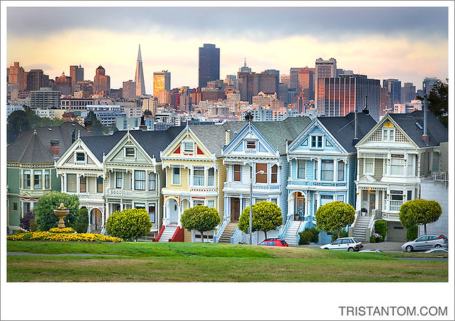alamo square painted ladies houses san francisco photo blo flickr. Black Bedroom Furniture Sets. Home Design Ideas