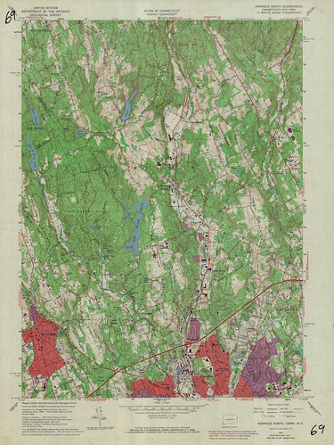 Norwalk North Quadrangle 1971 - USGS Topographic Map 1:24,000 | by uconnlibrariesmagic