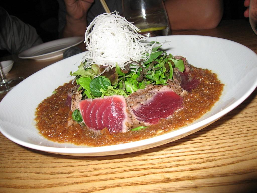 Bigeye tuna sashimi salad with matsuhisa dressing for Sashimi dressing
