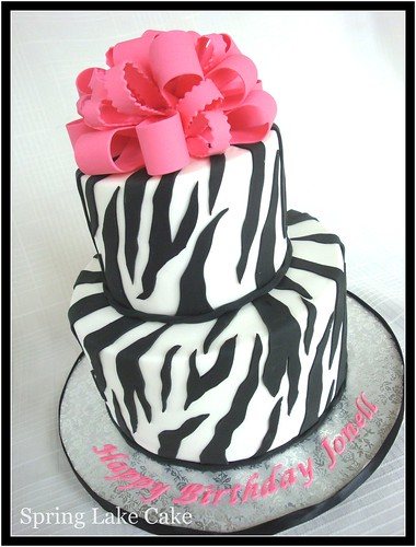 Zebra Design Birthday Cake : Zebra Print Cake I believe this was for a 50th birthday ...