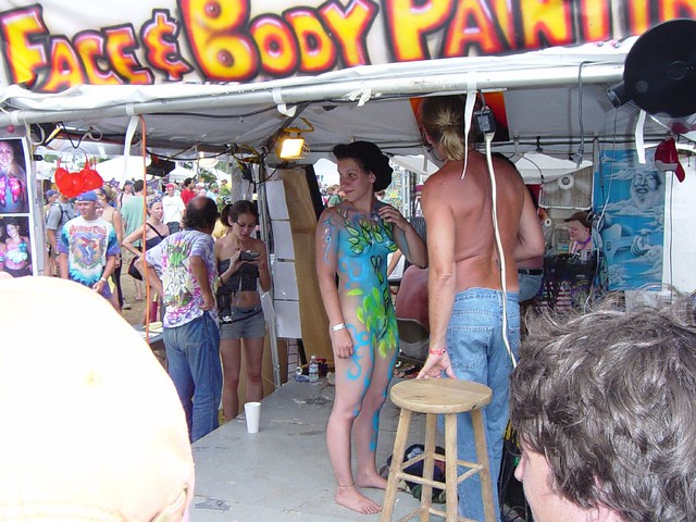 Bonnaroo Body Paint 58 Full Body Paint by