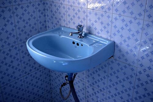 Blue Bathroom Sink Anja Cronenberg Flickr