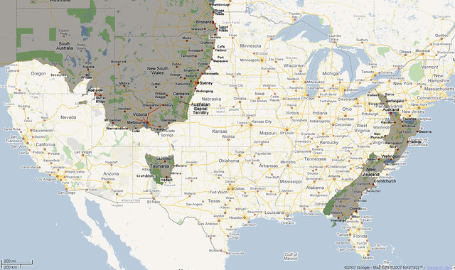 usa with nz and oz superimposed a map of the usa with new flickr. Black Bedroom Furniture Sets. Home Design Ideas