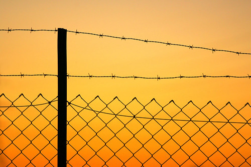 Fence at sunset | by martybugs
