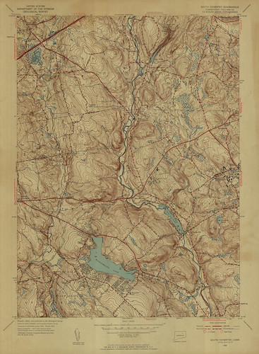 South Coventry Quadrangle 1953 - USGS Topographic Map 1:24,000 | by uconnlibrariesmagic