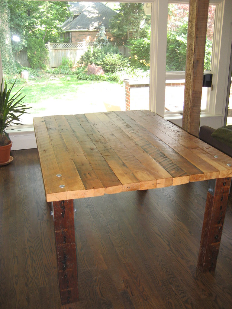 2x4 table kitchen table built from salvaged pine 2x4s for 2x4 farm table