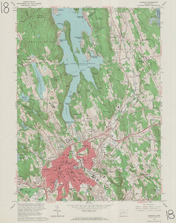 Danbury Quadrangle 1963 - USGS Topographic 1:24,000 | by uconnlibrariesmagic
