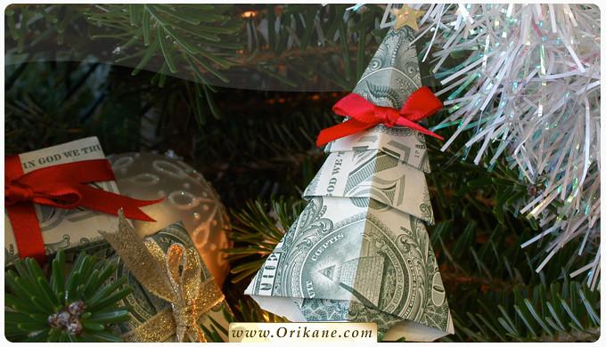 NEW: Money Origami Christmas Tree Instructions