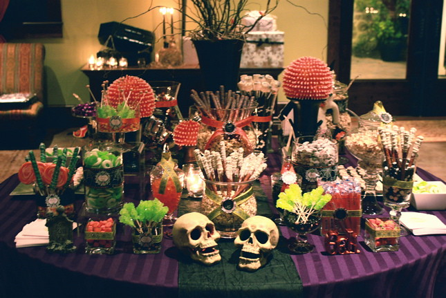 Halloween Night Wedding Sweets Table Melissa And Justin