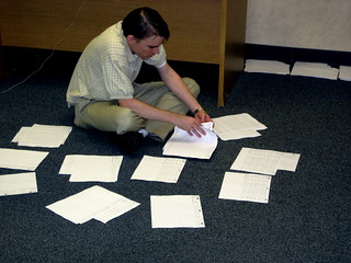 Intern Bryant Works on Packets | by Barack Obama