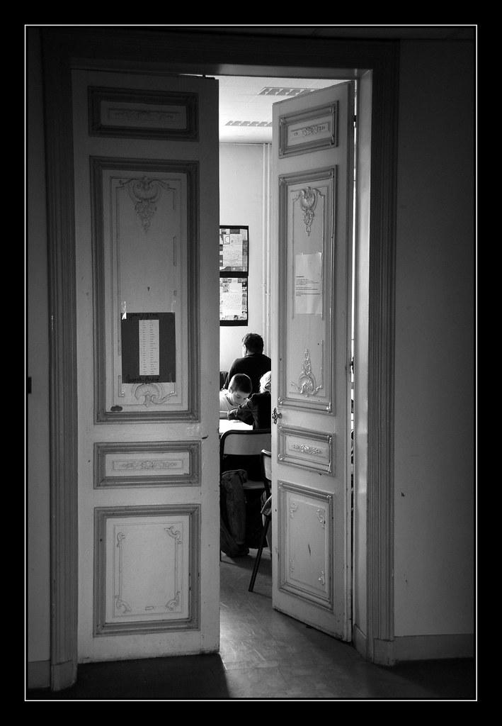 Porte ouverte sur la classe les l ves de coll ge en for Porte ouverte