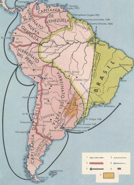 Mapa antiguo de América del Sur; mapa antigo da América do… | Flickr