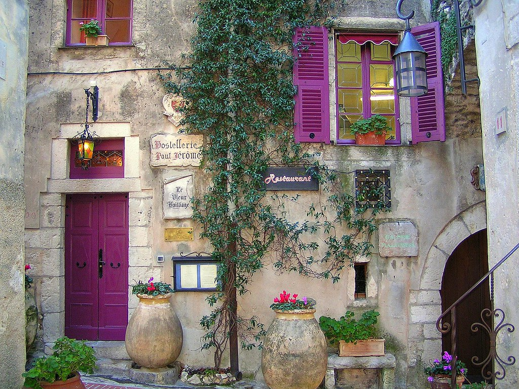 768 #7B3670 Provence Shutters Provence Inn & Restaurant In La Turbie  wallpaper Purple Front Doors 47051024