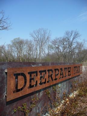 Deerpath Farm Entrance Sign Cor Ten Steel The Deerpath