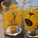 Yellow sunflower small glass