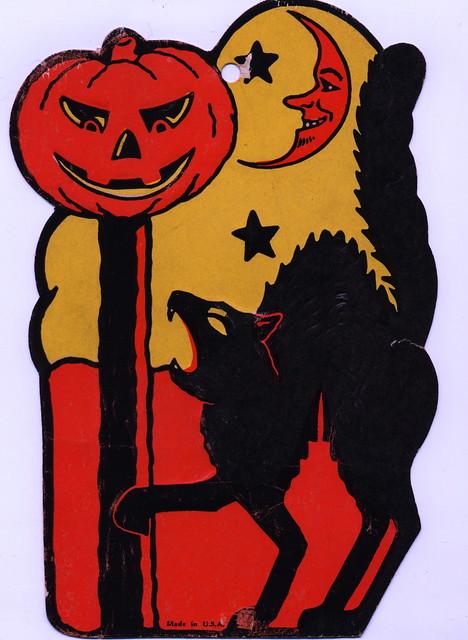 Vintage beistle halloween decoration flickr photo sharing for Antique halloween decoration