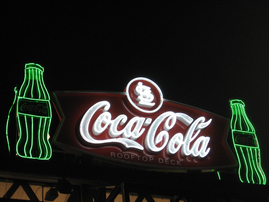 coca cola rooftop deck neon sign above the coca cola rooft flickr. Black Bedroom Furniture Sets. Home Design Ideas