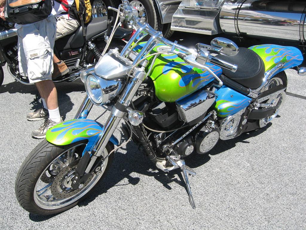 Custom Motorcycle Paint Orange County Ca