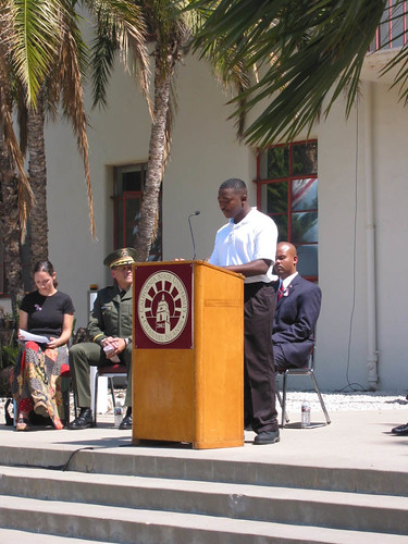 Corey Porter Speaking at September 11th Memorial | by California State University Channel Islands