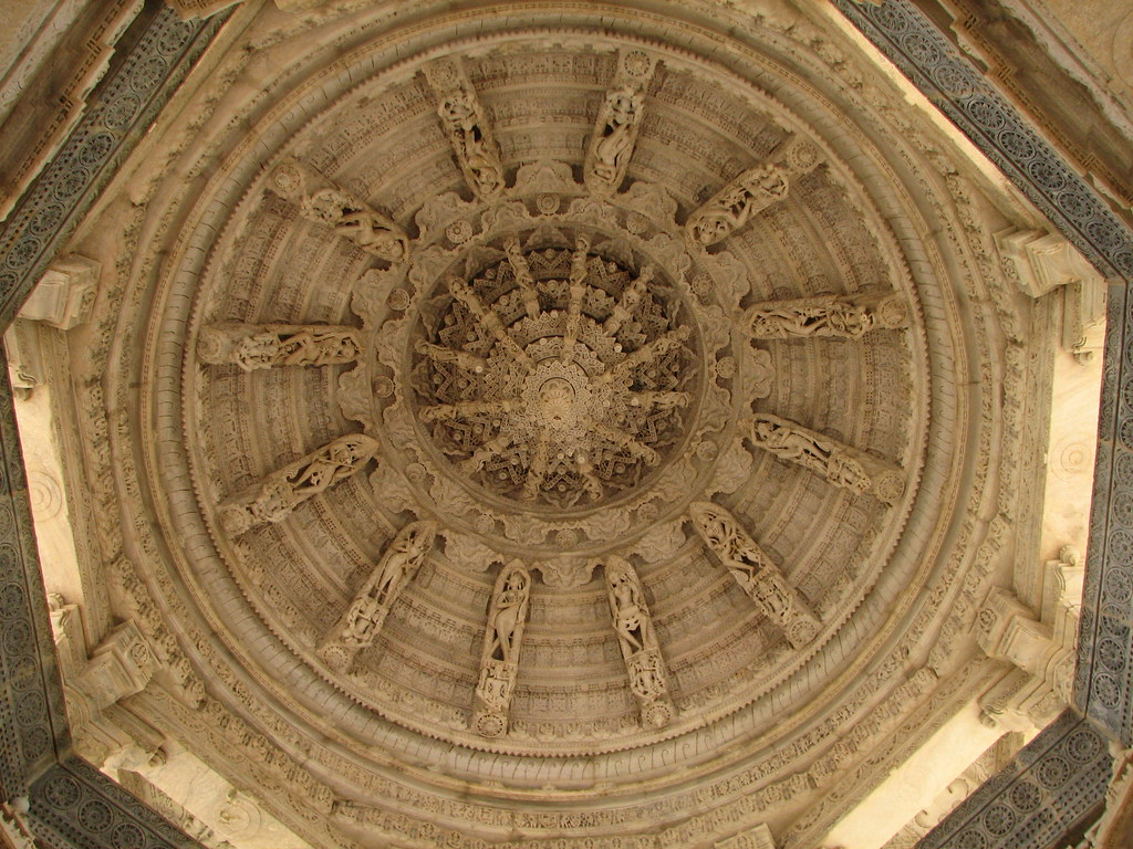India Udaipur 041 Beautifully Carved Ceiling At The