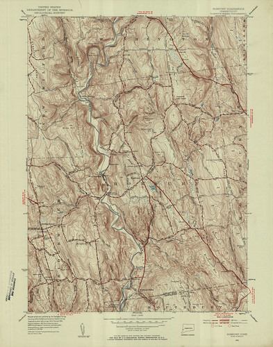 Roxbury Quadrangle 1955 - USGS Topographic Map 1:24,000 | by uconnlibrariesmagic