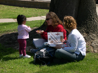 Students Studying under a Tree Outside the Hub | by California State University Channel Islands