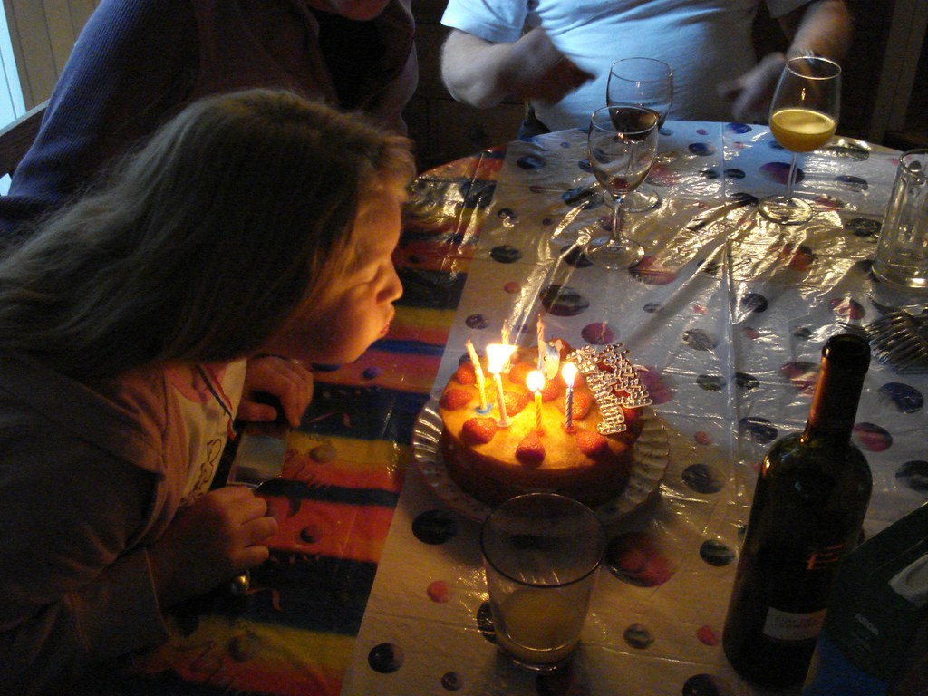 Blowing Candles On Birthday Cakes Germs