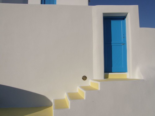 Blue Door - White Wall | by Klearchos Kapoutsis