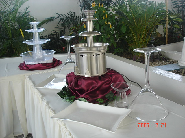 Dessert Table In Garden Sanctuary Centre Of Excellence