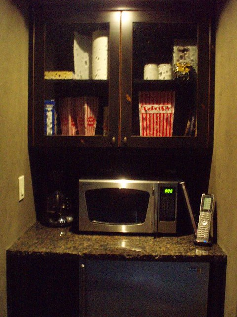 Mini Fridge Popcorn Microwave In Theater Room Flickr