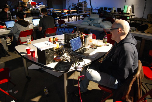 The lone programmer at hour 26 | by eyebeam
