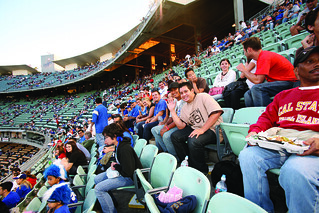Alumni & Friends Association Dodger Night attendees at the game | by California State University Channel Islands