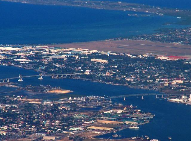 Two Bridges An Aerial View Taken Southwest Of Cebu City