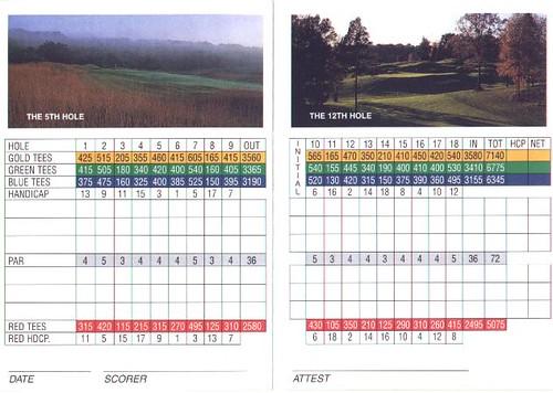 Valhalla Golf Club Scorecard Valhalla Golf Club Flickr