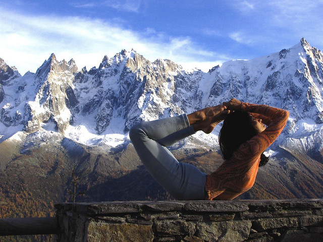 Yoga in the French Alps