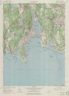 Niantic Quadrangle 1970 - USGS Topographic Map 1:24,000 | by uconnlibrariesmagic