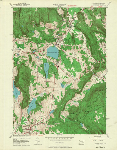Sharon Quadrangle 1956 - USGS Topographic Map 1:24,000 | by uconnlibrariesmagic