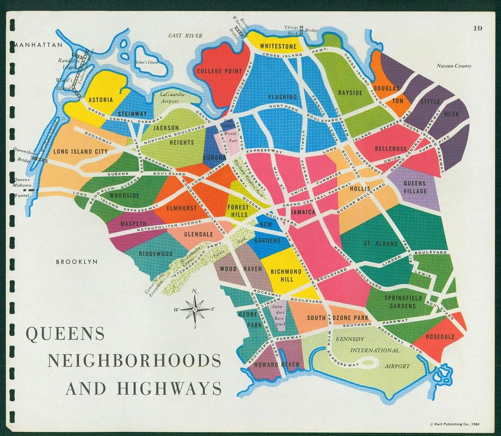 queens neighborhoods 1964 1964 map feel free to add your flickr