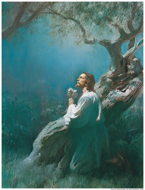 Jesus Praying Gethsemane Mormon | Flickr - Photo Sharing! Jesus Praying In The Garden Of Gethsemane Painting